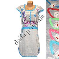 Женская котоновая ночная рубашка LT17 оптом со склада на 7км.
