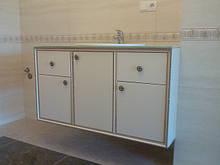 Мебель для ванной комнаты с декорами со склада