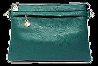 Сумка-клатч женская зеленая со змейкой