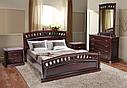 Ліжко двоспальне 180*200 з узголів'ям дуб каштан  Флоренція  Еліт  Мікс Меблі, фото 2