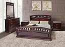Ліжко двоспальне 180*200 з узголів'ям дуб каштан  Флоренція  Еліт  Мікс Меблі, фото 3