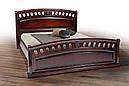 Ліжко двоспальне 180*200 з узголів'ям дуб каштан  Флоренція  Еліт  Мікс Меблі