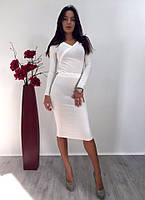 Костюм женский вечерний юбка + кофта высокого качества (оптом)