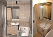 Меблі для ванної з дзеркалом від виробника на замовлення
