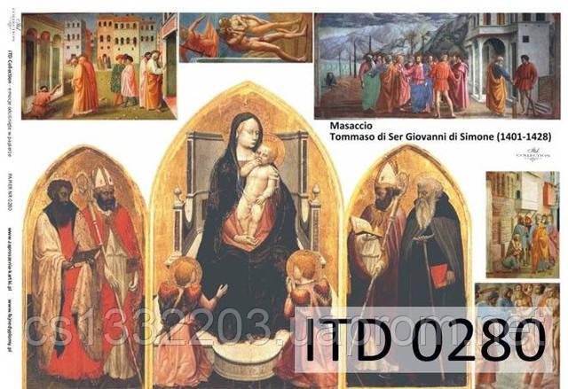Декупажная карта ITD 0280