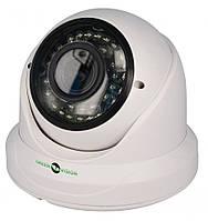 """Купольная AHD камера Green Vision GV-033-AHD-H-DIS13V-30 Матрица 1/3"""" CMOS Sony 1,3МР, 2.8-12мм"""