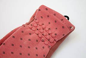 Женские перчатки коралл (сенсорные) -маленькие 7 рр, фото 2