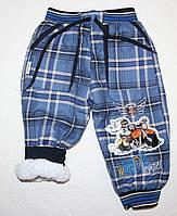 Теплые штаны  на мальчика   на травке 1,2,3,4 года