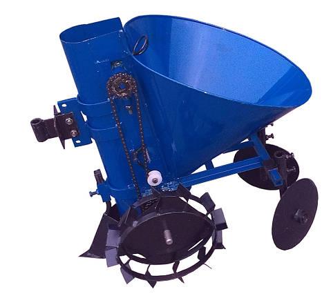 Картофелесажатель мотоблочный КСМ-1Ц (синий), фото 2