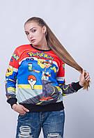 """Молодежный женский свитер с орнаментом """"свитшот"""""""