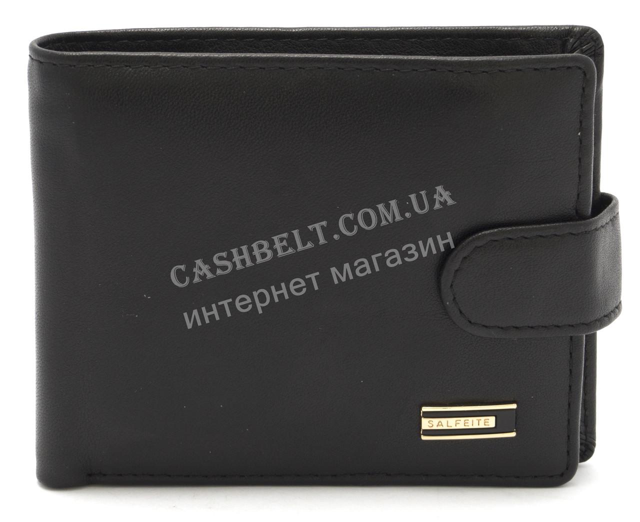 Стильный практичный кожаный мужской кошелек SALFEITE art. 8173N-BLK черного цвета