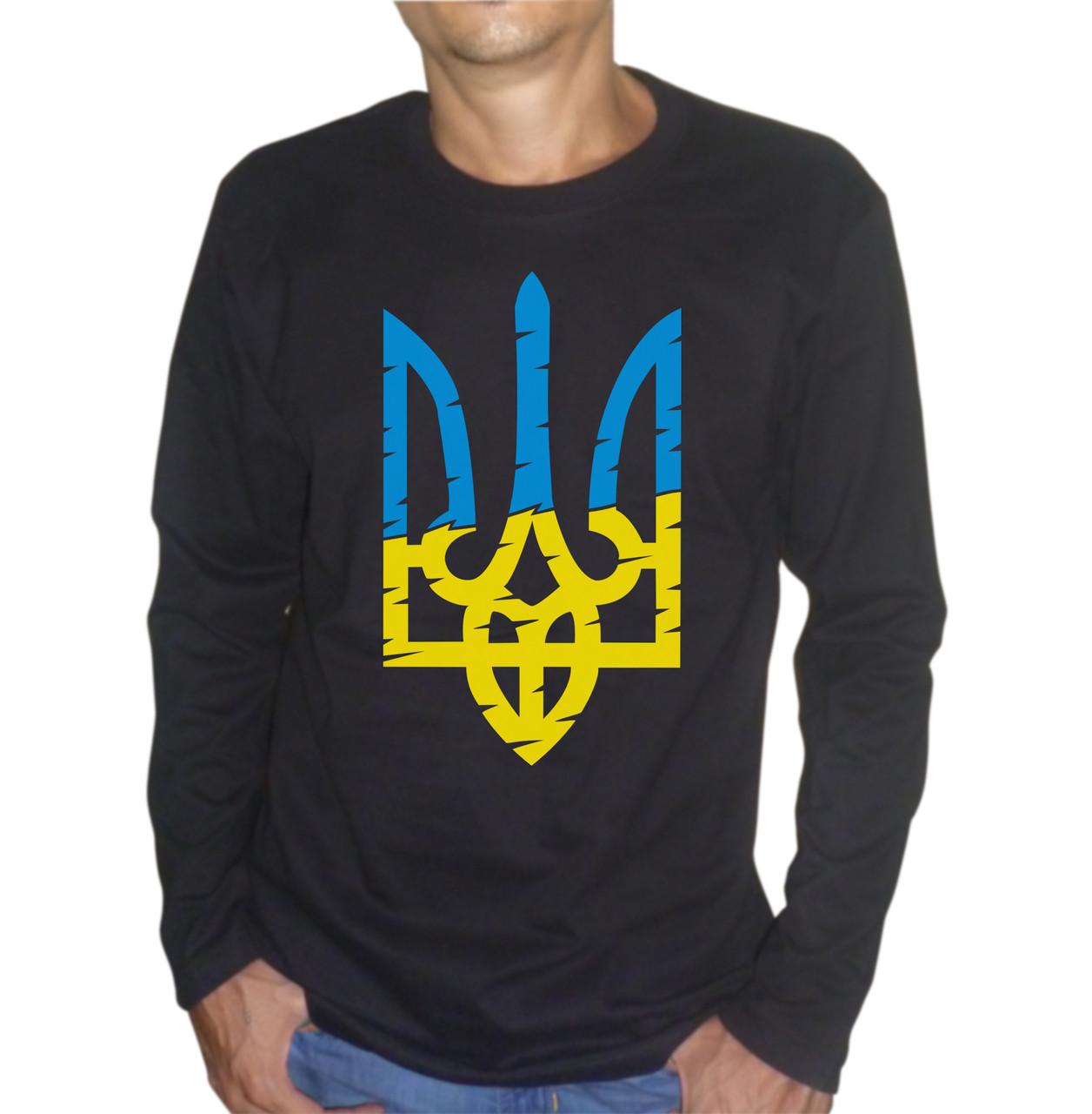 Мужская футболка со стилизованным гербом Украины