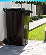 Бак для мусора на колесах 240 л Алеана, коричневый, фото 2
