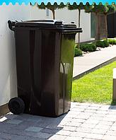 Бак мусорный на колесах 120 л Алеана, коричневый