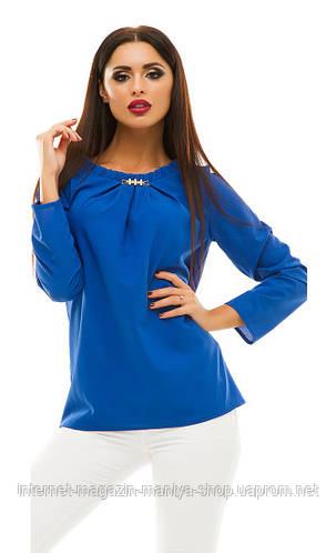 Блузка женская горох с украшением