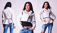 Женская модная куртка, кожзам, разные цвета