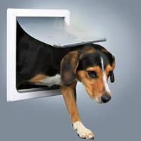 Дверца для кошек/собак, 2 функции, (22,5х29,5см), пластик, белый.
