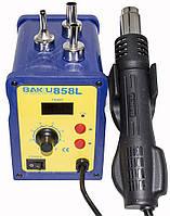 Паяльная станция с феном BAKU BK-858L, фен с цифровым блоком регулировки