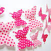 Бабочки для декора розовые в горошек.