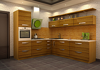 Кухонный гарнитур со шпонированным фасадом