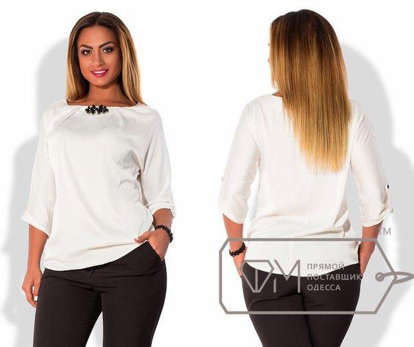 Блуза с брошкой ока330