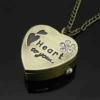 Часы карманные Сердечко
