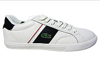 Мужские кроссовки Lacoste, кожаные, белые, Р 42 43 44