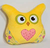 Сова-подушка желтая - 120002, фото 1