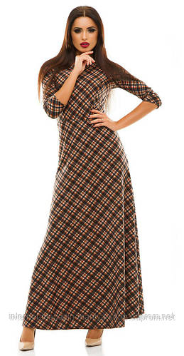Платье женское клетка в пол