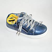 Демисезонные ботинки для девочки, девочек фиолетовый Clibee 28р.