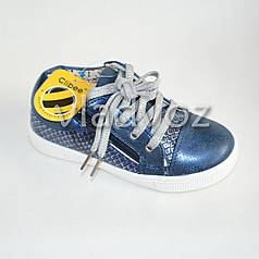 Демисезонные кроссовки для девочки, девочек синий Clibee 28р.