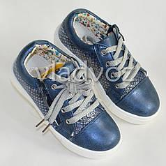 Демисезонные детские кроссовки для девочки девочек синий Clibee 29р