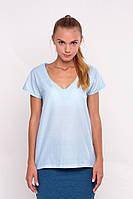 Женская блуза голубая