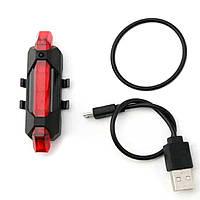Мигалка RAPID X задняя, вело габарит зарядка от USB синий, красный