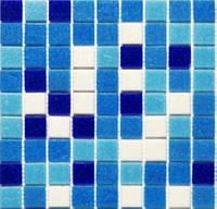 Голубая мозаика для ванной Vivacer GLmix11