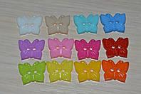 Швейные детские пуговицы бабочки. 18x15 мм
