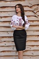 Рубашка-вышиванка женская рукав три четверти