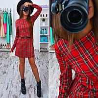 Платье женское в клетку 33165 Платья дропшиппинг