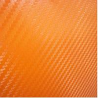 Карбоновая пленка оранжевая 50х127см