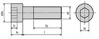 DIN 912 (ГОСТ 11738, ISO 4762) Винт с цилиндрической головкой и внутренним шестигранником под ключ