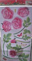 Наклейки-стикеры интерьерные плоские 60  х  32 роза