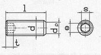 DIN 913 (ГОСТ 11074, ISO 4026) Винт установочный с внутренним шестигранником и плоским концом