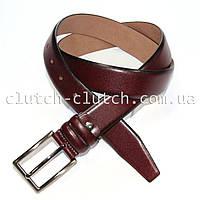 Ремень для брюк LMi 35 мм бордо с темными краями гладкий