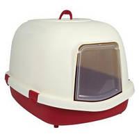 """Кошачий туалет-домик 'Primo"""" , 56 × 47 × 71 см, бордовый/кремовый"""