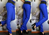 Женские брюки синий-электрик, фото 1