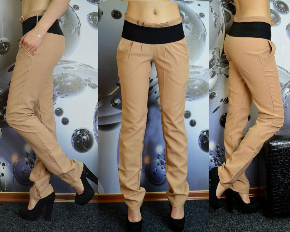 Бежевые женские брюки