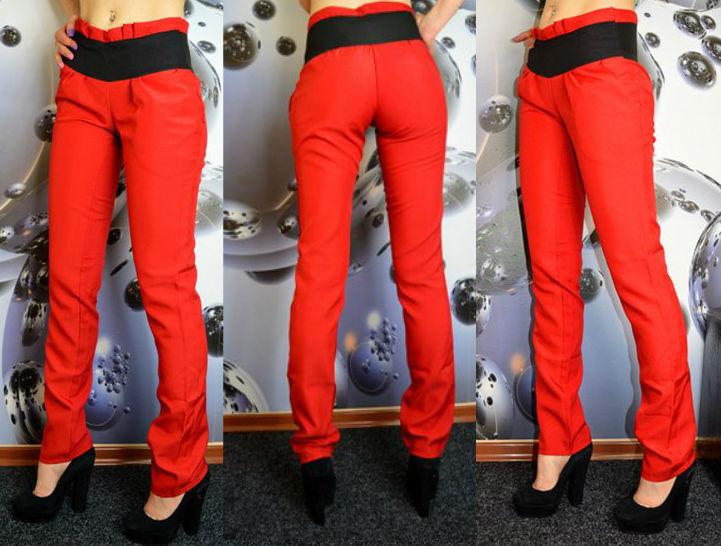 Красные женские брюки