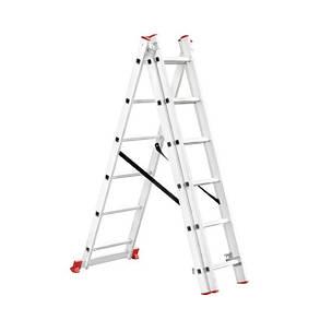 Лестница алюминиевая 3-х секционная универсальная раскладная 3*6ступ. 3.41м INTERTOOL LT-0306, фото 2