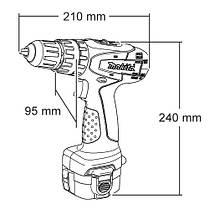 Аккумуляторная дрель-шуруповерт с ударом Makita 8271DWALE, фото 3
