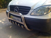 Mercedes Viano 2004-2015 гг. Кенгурятник WT003 (нерж.) 60мм, без надписи